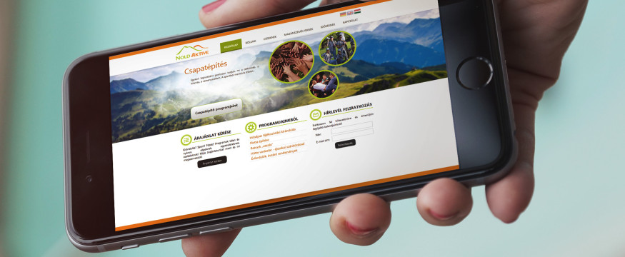Mobiltelefonra optimalizált weboldal